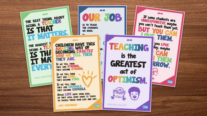 Free School Front Office Posters - Inspirational Quotes to Welcome Staff