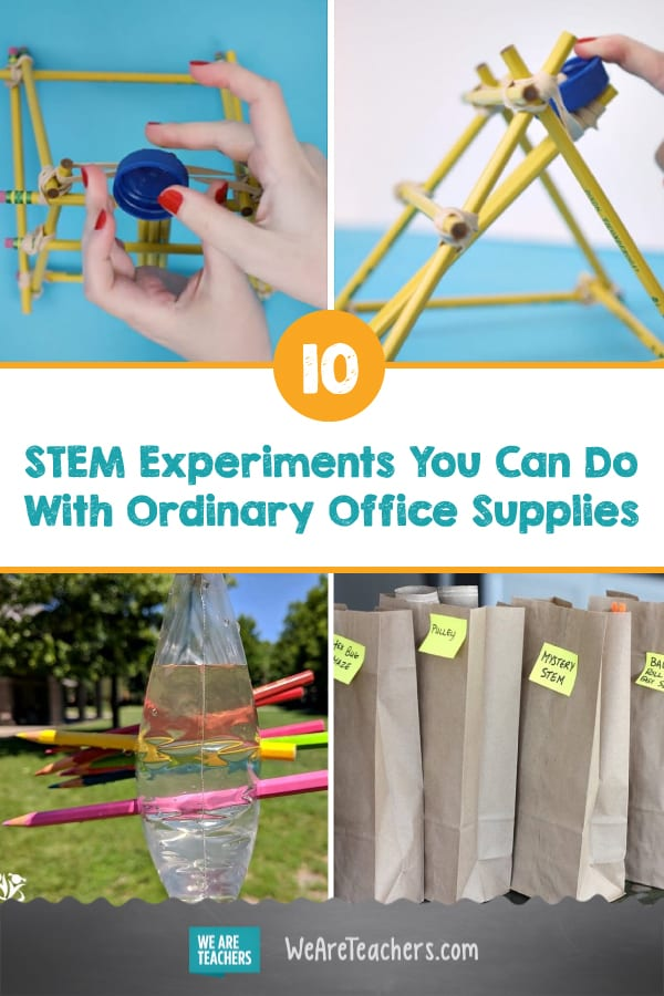 10 STEM Experiments You Can Do With Ordinary Office Supplies