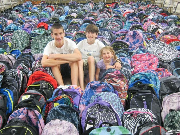 Brothers Jackson and Tristan Kelley founders of Backpacks for New Beginnings