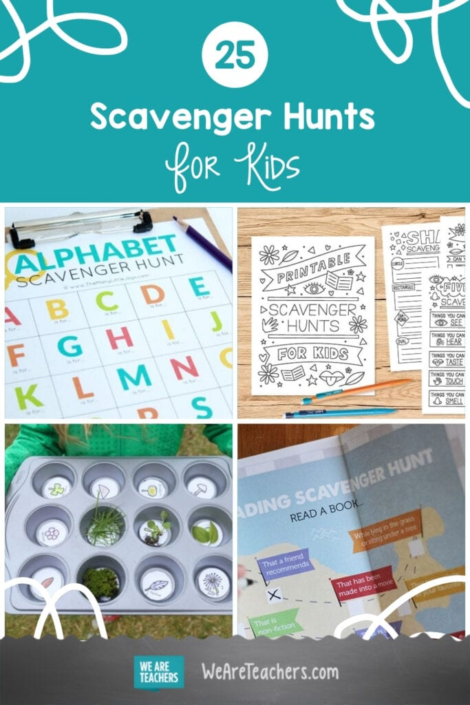 25 Scavenger Hunts For Kids To Try At Home Or In The Classroom