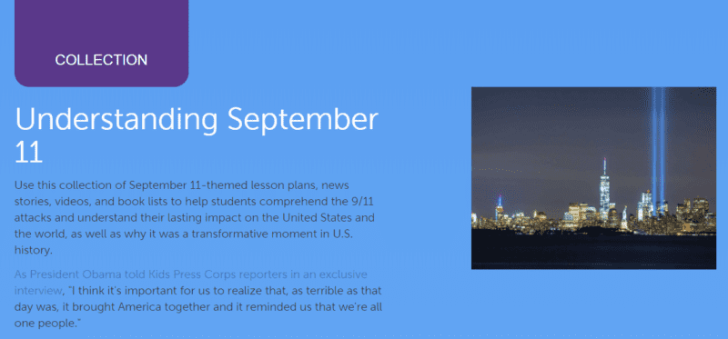 Websites and Books to Teach Kids About 9/11