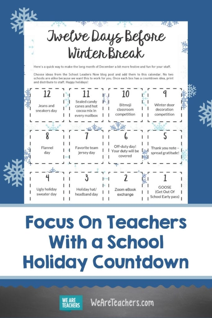 Focus On Teachers With a School Holiday Countdown