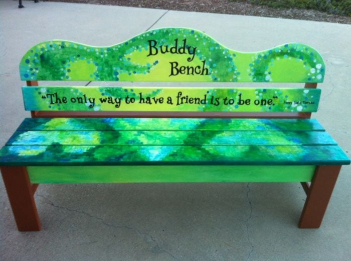 Buddy bench for school playgrounds