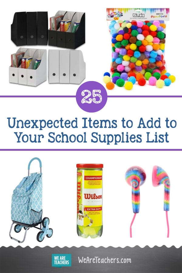 25 Unexpected but Totally Genius Items to Add to Your School Supplies List