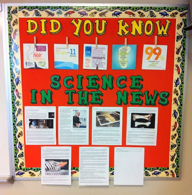 Science Bulletin Boards News Science Pirate