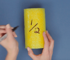 teaching fractions fun pool noodles step 4