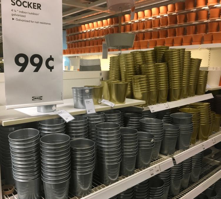 galvanized pots