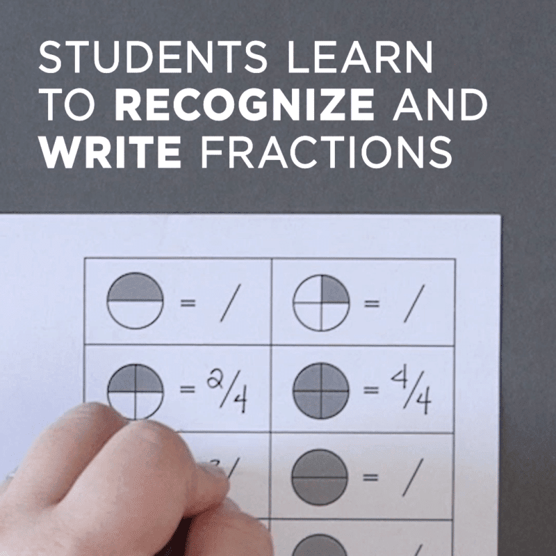 Write Fractions - Free Fractions Worksheets