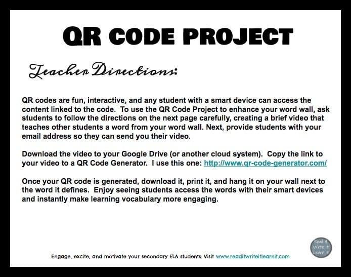 QR code project