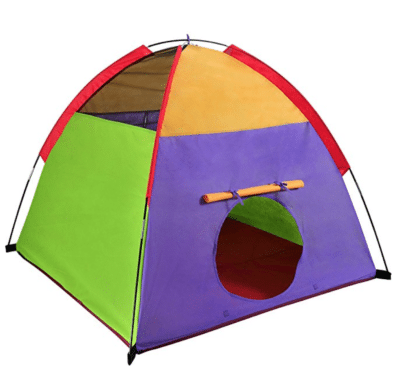 Colorful tent for classroom camping theme