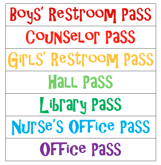graphic regarding Hall Passes Printable referred to as Corridor P Options Youll Need to have in the direction of Steal for Your Clroom