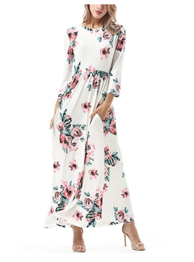 Casual Dresses for Teachers - Long Floral