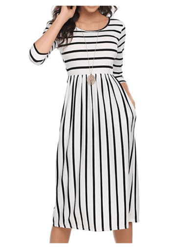 Casual Dresses for Teachers - Stripes
