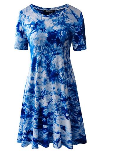 Casual Dresses for Teachers - Tie Dye