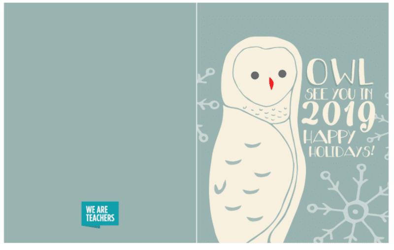 Owl gift card