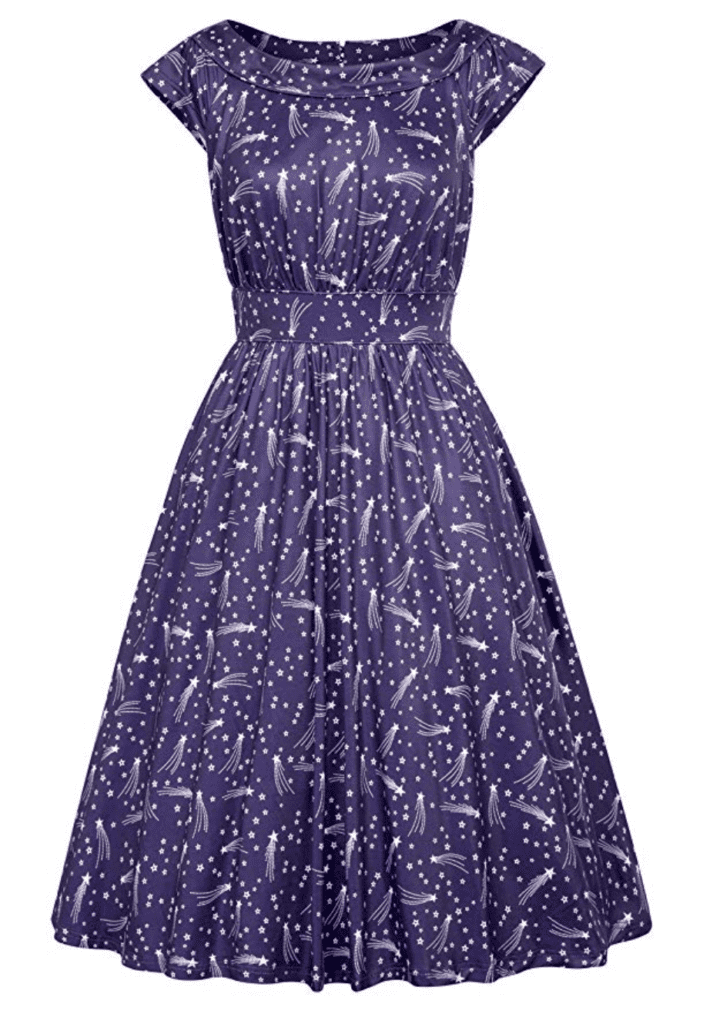 1cae30731f Space and constellation prints are a staple in Ms. Frizzle s closet. The capped  sleeves and length make it a great option for school.