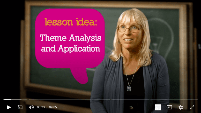 Screenshot of theme analysis and application video.