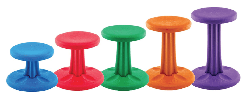 Kore Wobble Stool in a variety of colors and heights