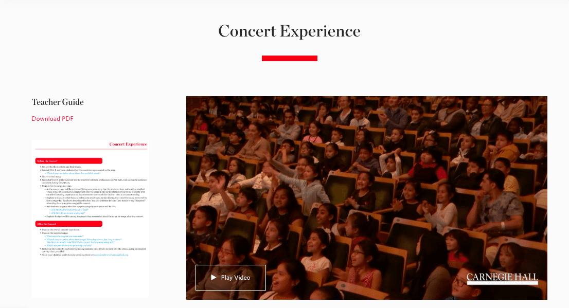crowd of children seated in a concert hall - culturally diverse music