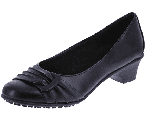 SafeTStep black flat with toe buckle (Teacher Shoes)