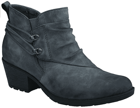 Earth Origins Annika bootie in gray suede