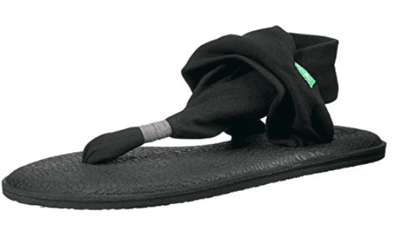 Sanuk sandal with yoga bed sole