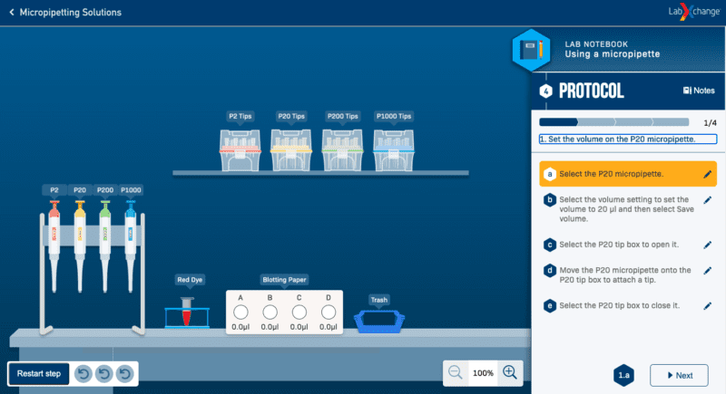 labxchange virtual lab experiments