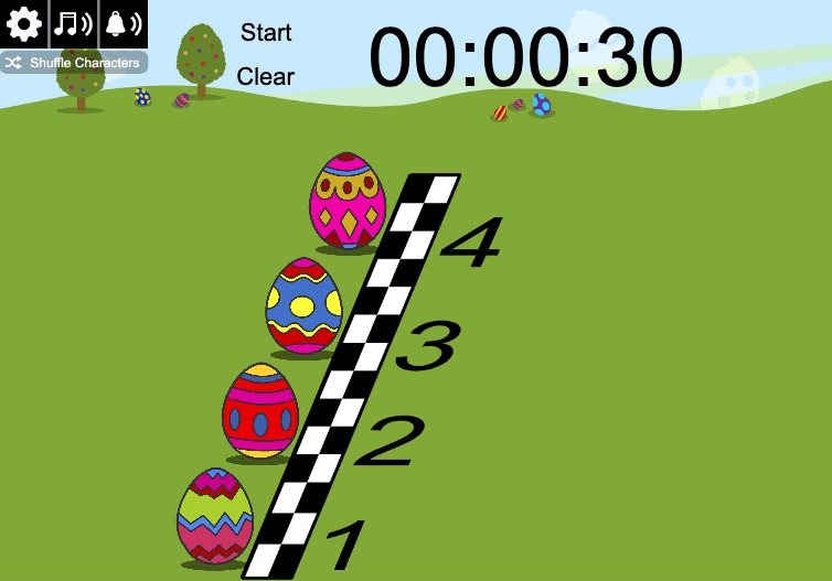 Springtime Easter Egg Race