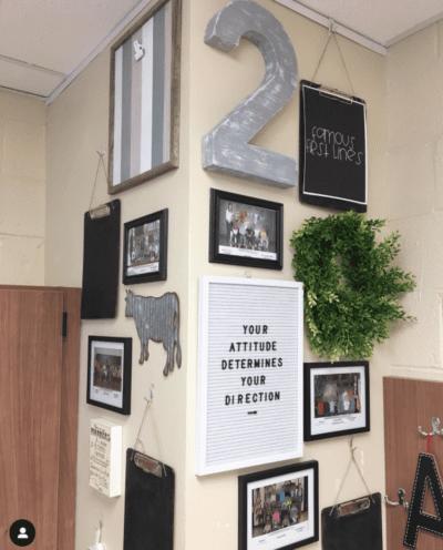 Teacher shares her classroom gallery wall.