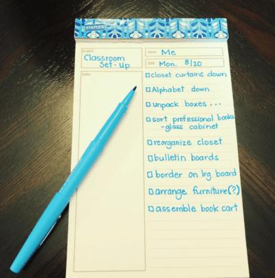 Image of Teacher To Do list from teacher blog PlanReadTeach