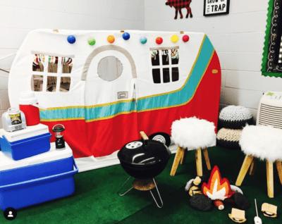 Teacher shares campfire and cam