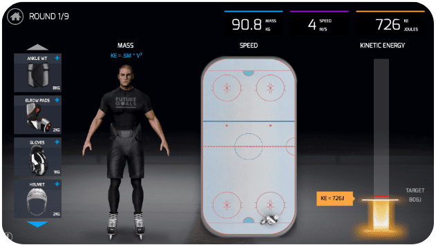 Screenshot of Hockey Scholar.