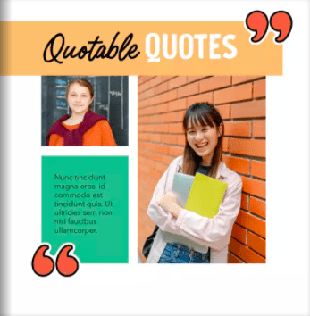 Quotable quotes scrapbook page with two teen girls