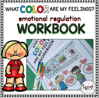 cover of what color are my feelings workbook for elementary kids