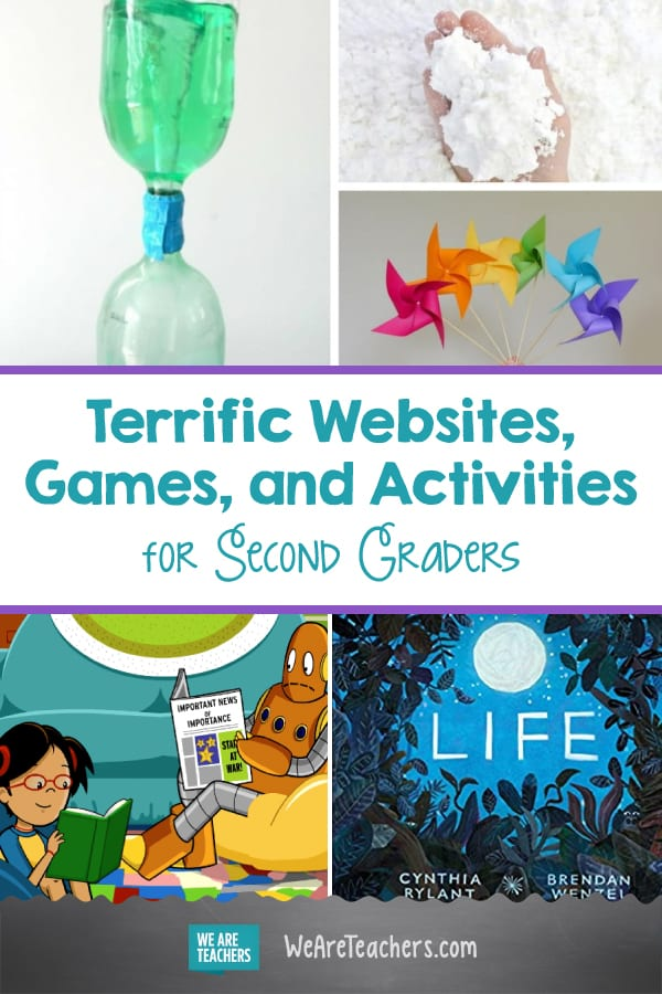 Terrific Websites, Games, and Activities for Second Graders