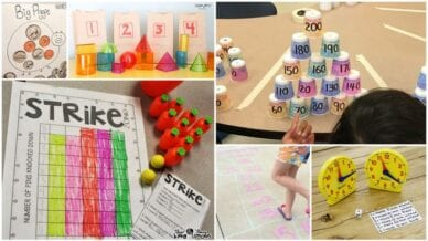 Collage of Second Grade Math Games