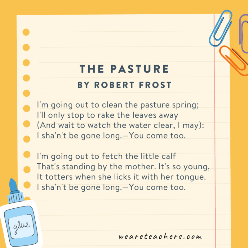 The Pasture by Robert Frost