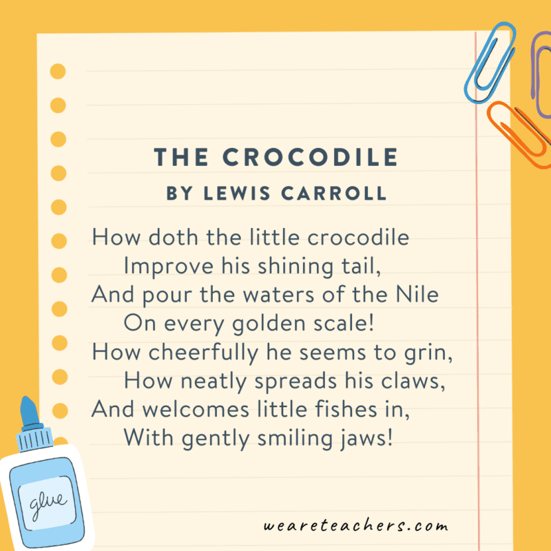 The Crocodile by Lewis Carroll
