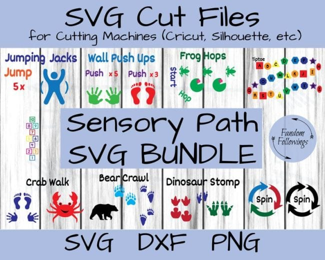 SVG cut Files for Cutting Machines Sensory Path SVG Bundle