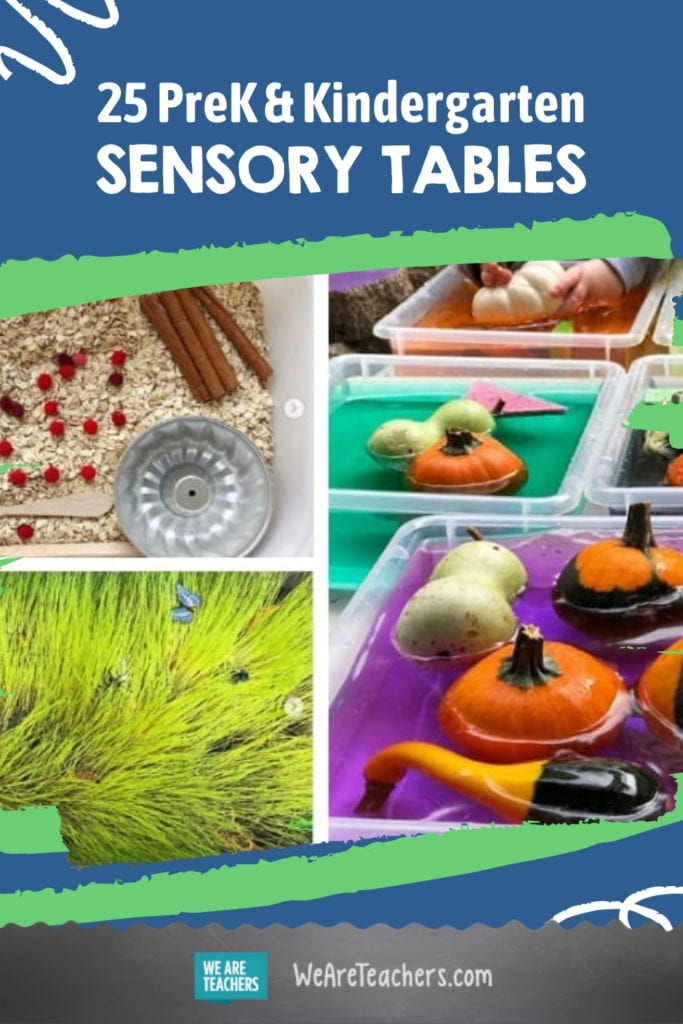 PreK and Kindergarten Teachers, You'll Want To Try Every One of These Fun Sensory Tables