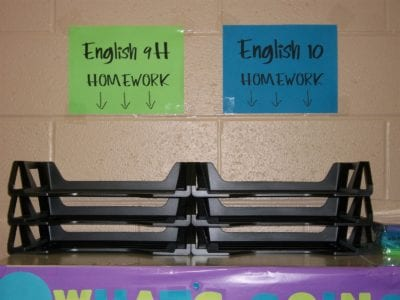Set Up Turn-In Trays - 10 Classroom Procedures to Save Your Sanity