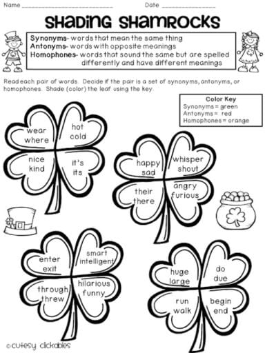 Tricks to learn synonyms and antonyms worksheet