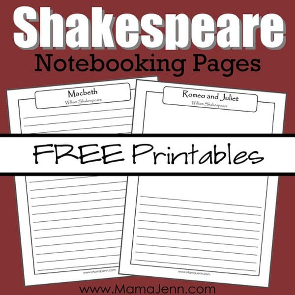 30 Shakespeare Activities and Printables for the Classroom