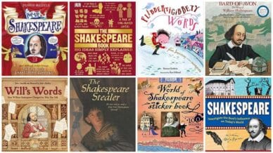 Collage of Books About Shakespeare for Kids
