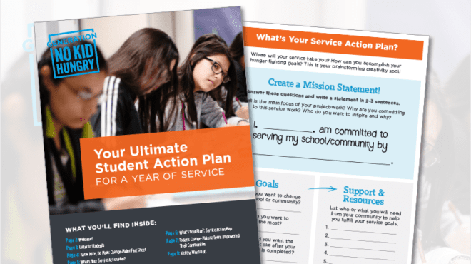 Get This Free Service Learning Toolkit & Invite Your Students to Help End Childhood Hunger