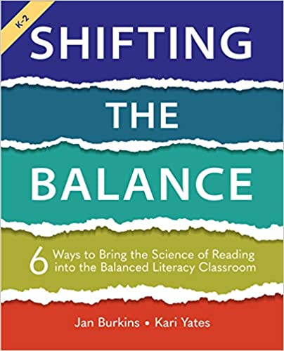"""Professional development book cover for """"Shifting the Balance"""" by Jan Burkins and Kari Yates"""