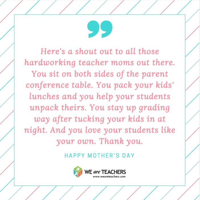 Shoutout to a Teacher Mom