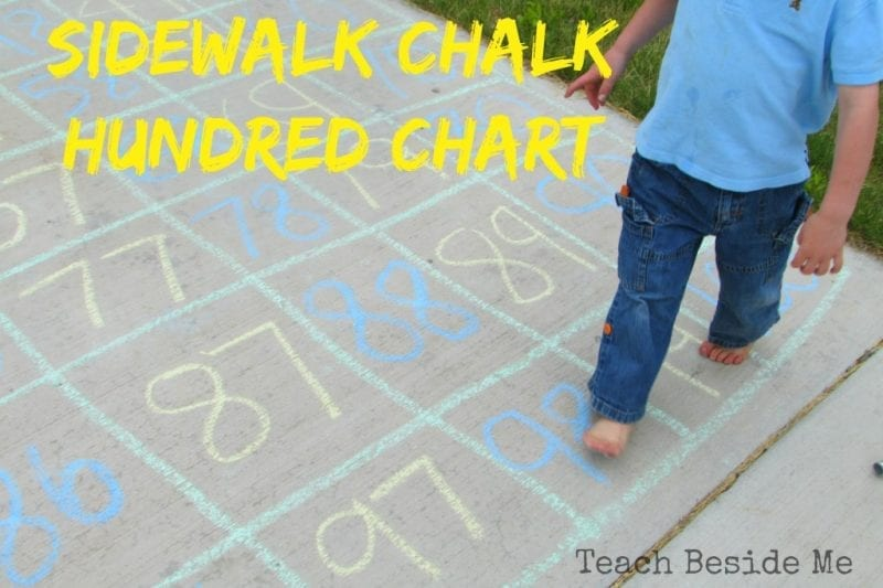 Sidewalk Chalk Hundreds Chart
