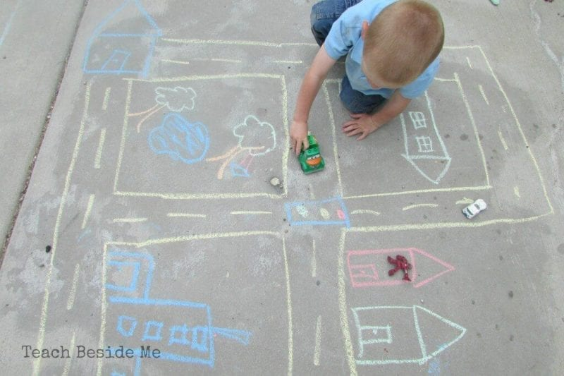 outdoor map and car fun for students
