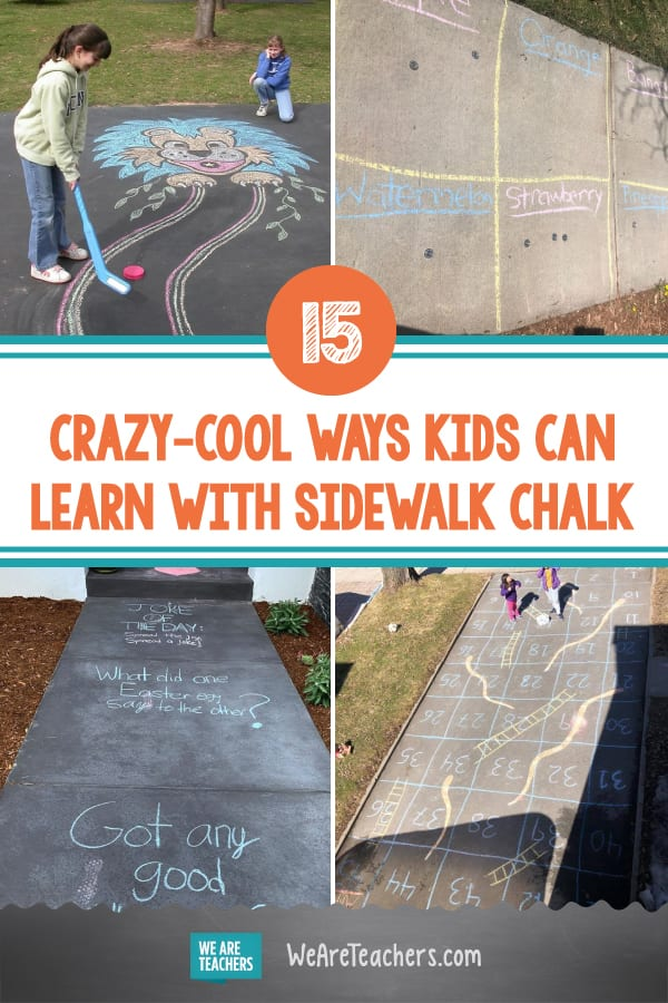 15 Crazy-Cool Ways Kids Can Learn With Sidewalk Chalk